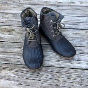 Cute Sperry topslider rain boots sz11 EUC